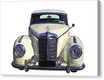 Classic White Mercedes Benz 300  Canvas Print by Keith Webber Jr