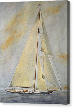 Classic Yacht Canvas Print by Juan  Bosco
