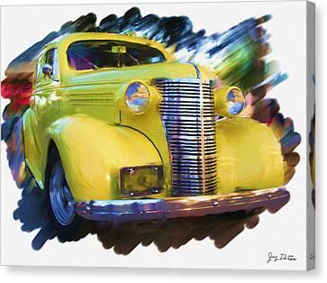 Classic Yellow Car  Canvas Print