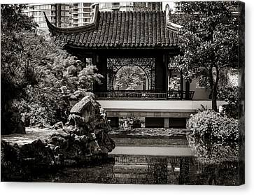 Classical Chinese Garden Il Canvas Print by Maria Angelica Maira