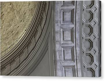 Classical Dome And Vault Details Canvas Print by Lynn Palmer