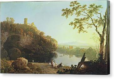 Classical Landscape View On The Arno Canvas Print by Richard Wilson