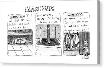 My Space Canvas Print - Classifieds by Roz Chast