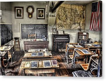 One Room School Houses Canvas Print - Classroom Recess by Ken Smith