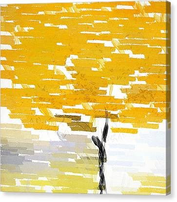 Black And Yellow Canvas Print - Classy Yellow Tree by Lourry Legarde