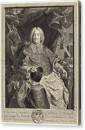 Claude Drevet After Hyacinthe Rigaud French Canvas Print by Quint Lox