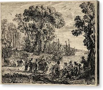 Claude Lorrain French, 1604 - 1682. The Rape Of Europa Canvas Print