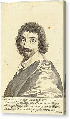 Balzac Canvas Print - Claude Mellan French, 1598 - 1688, Jean-louis Guez De Balzac by Quint Lox