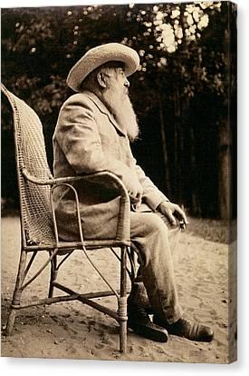 Claude Monet 1840-1926 Bw Photo Canvas Print
