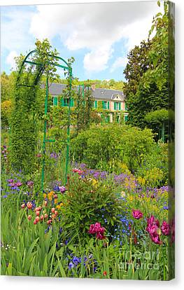 Claude Monet House And Garden At Giverny Canvas Print by Heidi Hermes