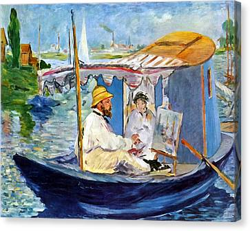 Claude Monet In Argenteuil Canvas Print