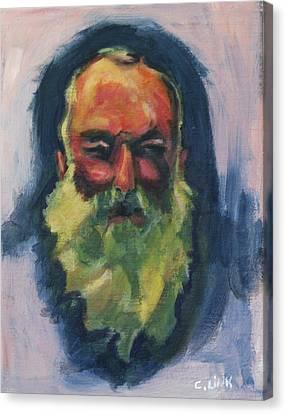 Claude Monet Self Portrait Canvas Print