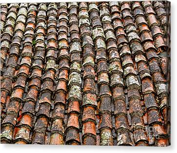 Canvas Print featuring the photograph Clay Tile Roof Of A Greek Monastery by Alexandra Jordankova