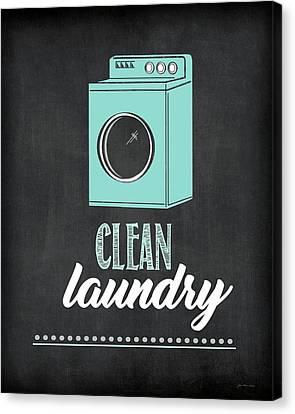 Laundry Canvas Print - Clean Laundry by Jo Moulton