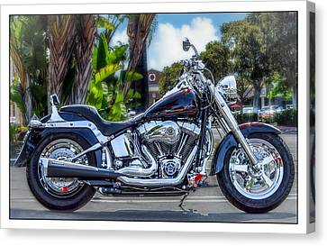 Canvas Print featuring the photograph Clean Looking Harley by Steve Benefiel