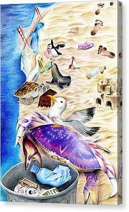 Cleaner Coastline By Benjamin Tang 6th Grade Canvas Print