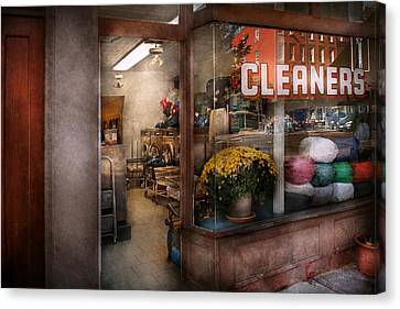 Cleaner - Ny - Chelsea - The Cleaners Canvas Print by Mike Savad