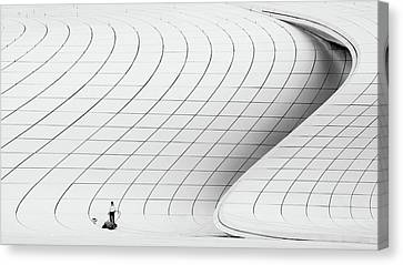 Workers Canvas Print - Cleaner by Richard Krchnak