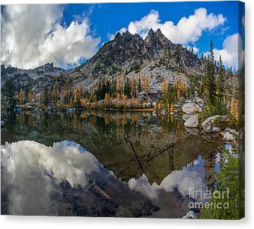 Clear Autumn Lakes Reflection Canvas Print