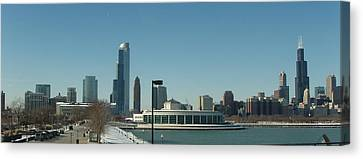 Canvas Print featuring the photograph Clear Cold Chicago Day by Teresa Schomig
