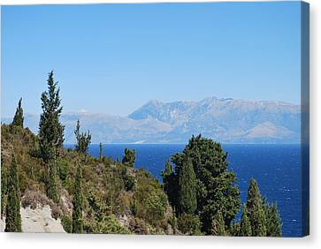 Canvas Print featuring the photograph Clear Day by George Katechis