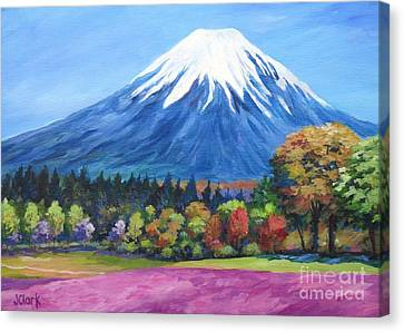 Clear Day Mount Fuji Canvas Print by John Clark