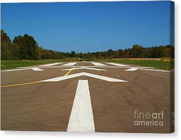 Canvas Print featuring the photograph Clear For Take Off by Julie Clements