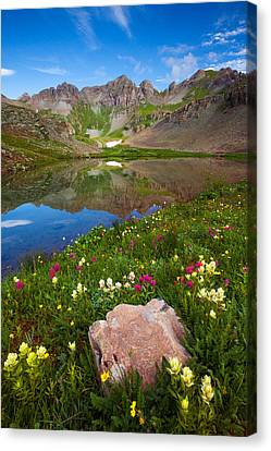 Clear Lake Morning Canvas Print by Darren  White