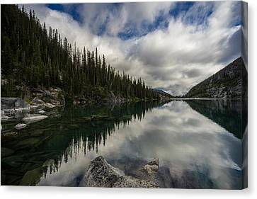 Clear Lake Serenity Canvas Print by Mike Reid