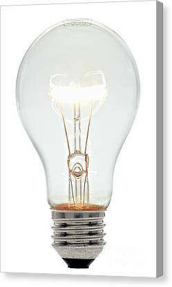 Clear Light Bulb Canvas Print by Olivier Le Queinec