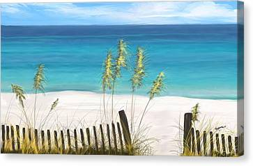 Clear Water Florida Canvas Print