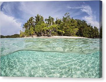Clear Waters Surround A Remote Island Canvas Print