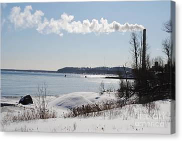Clear Winter Day Canvas Print by Lucy Bounds