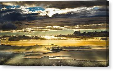 Clearing Bay Storm Canvas Print by Fred Rowe