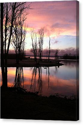Clearing On The River Canvas Print