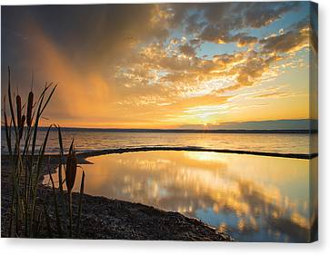 Keuka Canvas Print - Clearing Rainstorm by Michele Steffey