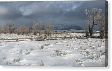 Clearing Storm In The Tetons Canvas Print by Sandra Bronstein