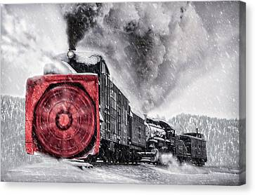 Clearing The Tracks Canvas Print by Ken Smith