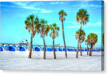 Clearwater Beach Canvas Print by Debbi Granruth