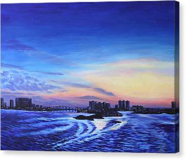 Clearwater Beach Sunset Canvas Print by Penny Birch-Williams
