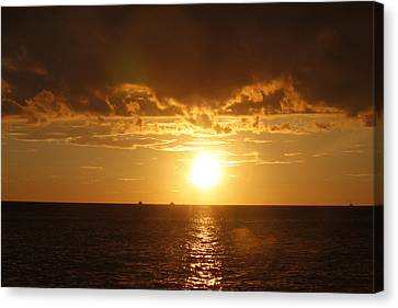 Clearwater Sunset Canvas Print by Ivete Basso Photography