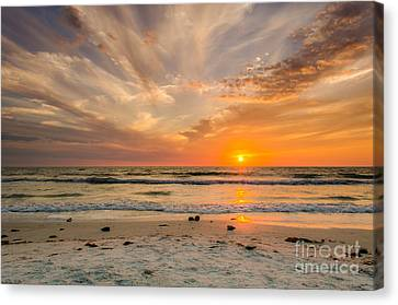 Clearwater Sunset Canvas Print by Mike Ste Marie