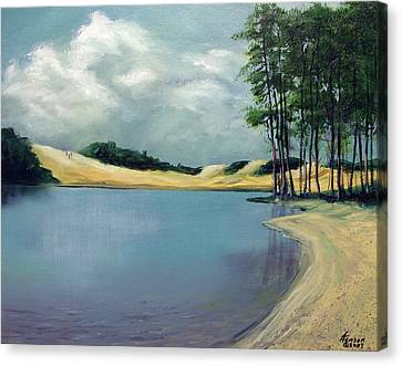 Canvas Print featuring the mixed media Cleawox Lake by Kenny Henson