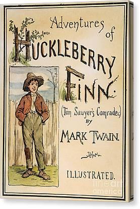 Clemens: Huck Finn, 1885 Canvas Print by Granger