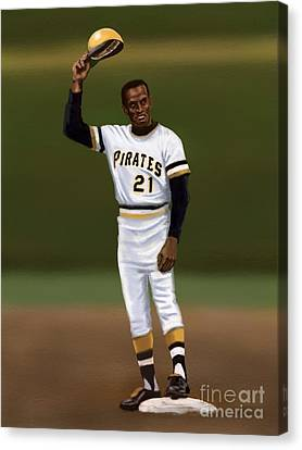 Clemente's 3000th Hit Canvas Print