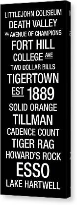 Solid Canvas Print - Clemson College Town Wall Art by Replay Photos