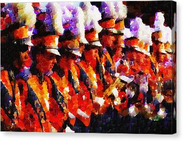 Clemson Tiger Band - Afremov-style Canvas Print