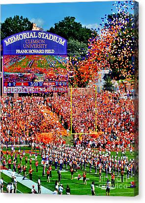 Memorial Canvas Print - Clemson Tigers Memorial Stadium by Jeff McJunkin