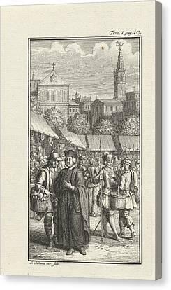 Clergyman Robbed By A Thief, Jacob Folkema Canvas Print