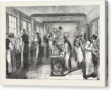 Clerkenwell Clock Factory The Regulator And General Clock Canvas Print